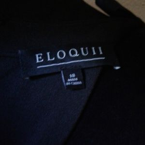 Eloquii black mid-calf dress